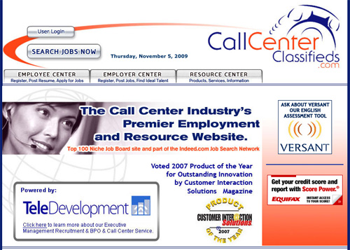 Call Center Classified